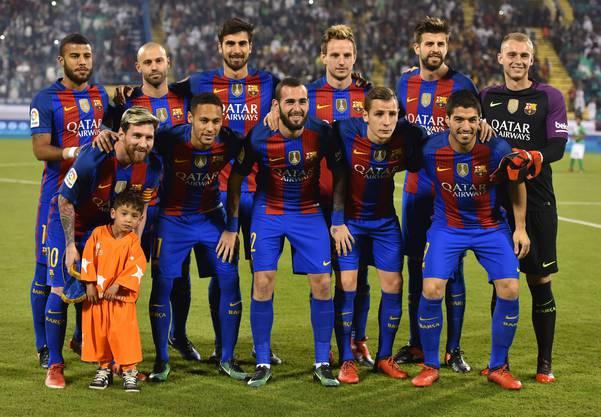 Der FC Barcelona 2016 bei einem Testspiel in Katars Hauptstadt Doha.