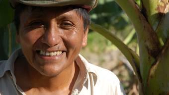el campesino Der bolivianische Kleinbauer German Amba Tancara in seiner Heimat, die zwischen Regenwald und Hochland liegt.ho