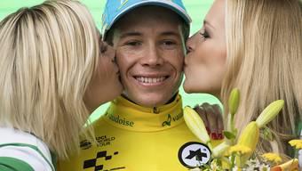Der Kolumbianer Angel Lopez nimmt die Schlussetappe der Tour de Suisse am Sonntag als Leader in Angriff