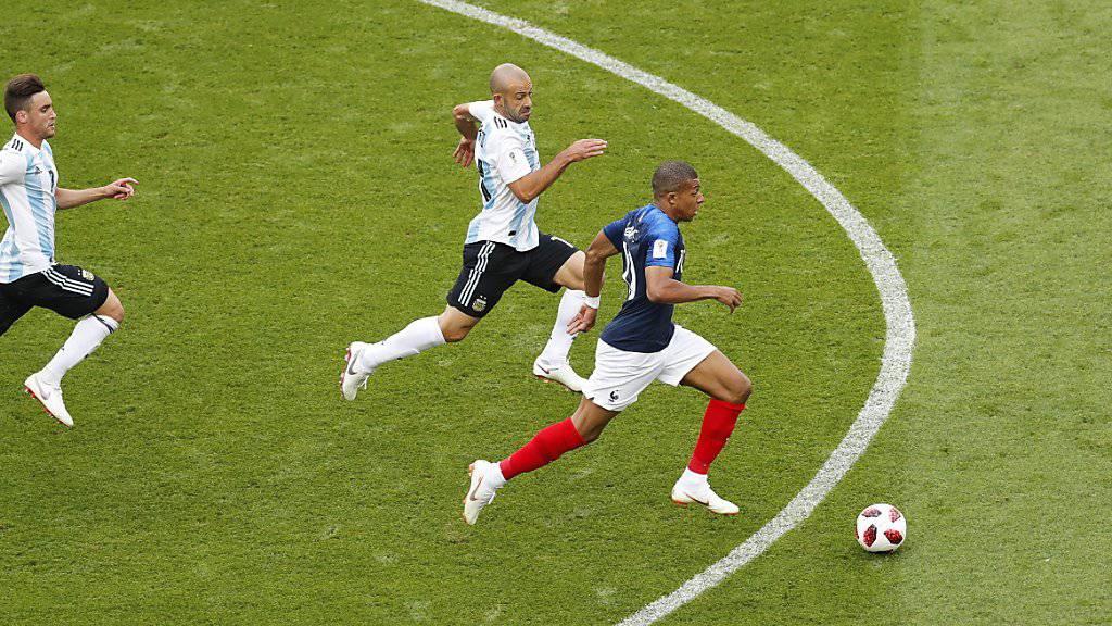 Kylian Mbappé will nach den Argentiniern auch den Uruguayern davonrennen