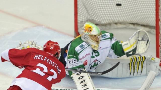 Sven Helfenstein scheitert an Oltens Goalie Michael Tobler
