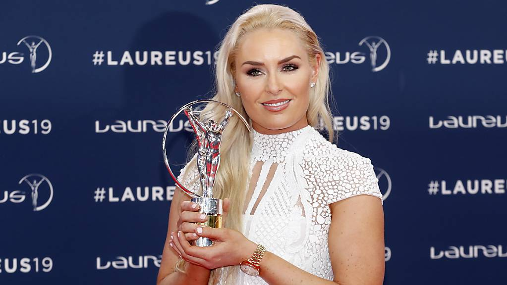 Auch in der Karriere neben den Skipisten erfolgreich: Lindsey Vonn mit einer Auszeichnung an den Laureus Awards 2019