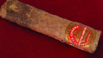 Hat für mehr als 12'000 Dollar den Besitzer gewechselt: Eine halbgerauchte Zigarre des langjährigen britischen Premierministers Winston Churchill.