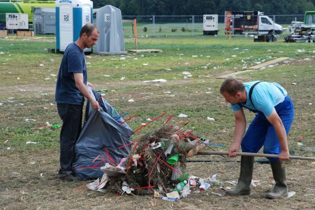 Hier werden über 20 Tonnen Abfall vom Argovia Fäscht entsorgt