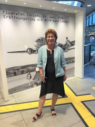 Sonja Zöchling Stucki, Sprecherin des Flughafens Zürich. Bild: zvg