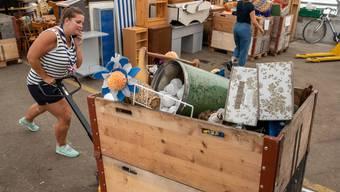 Vorbereitungen für den Flohmarkt 2019 in Balsthal