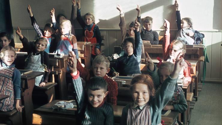 Für Primarschüler wie diese in einer Schule in Liestal 1941 war Französischunterricht lange unvorstellbar.