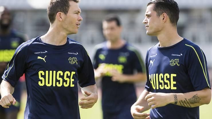 Nicht mehr wegzudenkende Schweizer Teamstützen: Captain Stephan Lichtsteiner (links) und Granit Xhaka