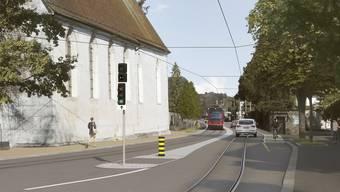 Die engste Stelle bei der St.-Josefskirche ist nur ein Knackpunkt für die Planer.