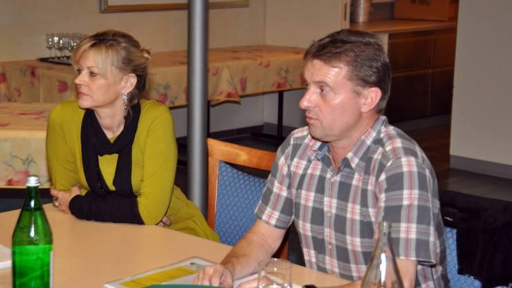 Die frisch gewählte Kassiererin Susanne von Känel und der Präsident Ueli Haller