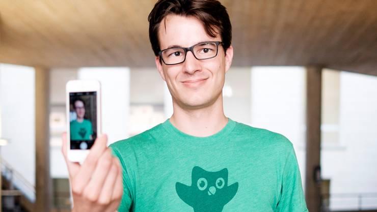 Jungunternehmer Severin Hacker.