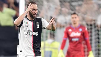 Gonzalo Higuain sollte ursprünglich abgeschoben werden, nun traf er für Juventus im Spitzenspiel