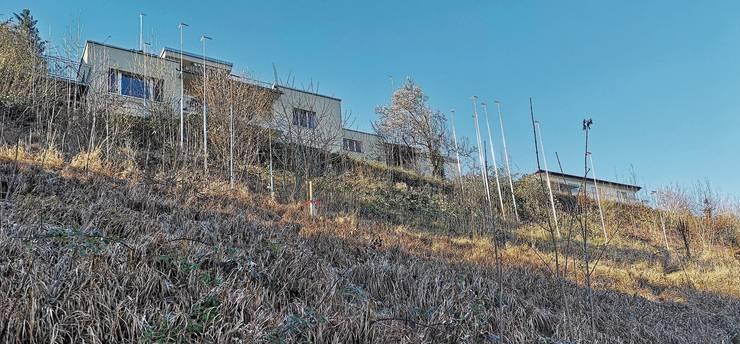 Die Profile für die Treppenhäuser im Gebiet Halden/Seeweg Boniswil stehen schon.
