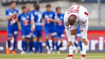 Pajtim Kasami (im Vordergrund) schoss den Sittener Treffer, doch Luzern hatte eher Grund zum Feiern