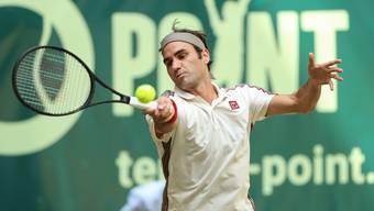 Im seinem 13. Halle-Final trifft Federer am Sonntag mit David Goffin erneut auf einen Ungesetzten.