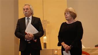 Feierlicher Abschied: Präsidentin Yvonne Rodel und Vizepräsident John Hoerdt.