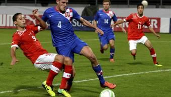 Datkovic mit Kroatiens U21 in Lugano gegen die Schweiz