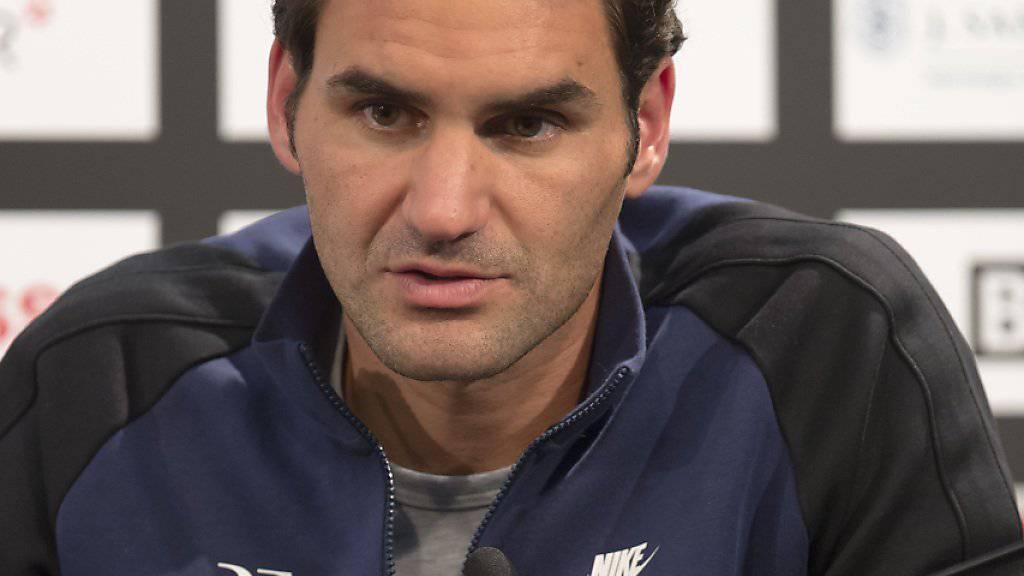 Federer - hier in Basel - spricht sich für mehr Doping-Kontrollen im Tennis aus
