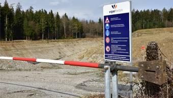 Still gelegt: In der Kiesgrube Aegerten in Neuendorf wird derzeit wegen der blockierten Erweiterung kein Kies abgebaut.