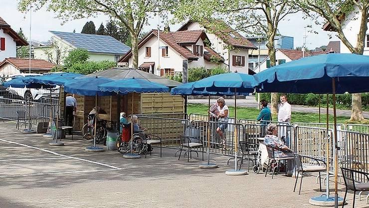 Im Alterszentrum Bruggbach in Frick wurde eine «Begegnungszone» geschaffen.