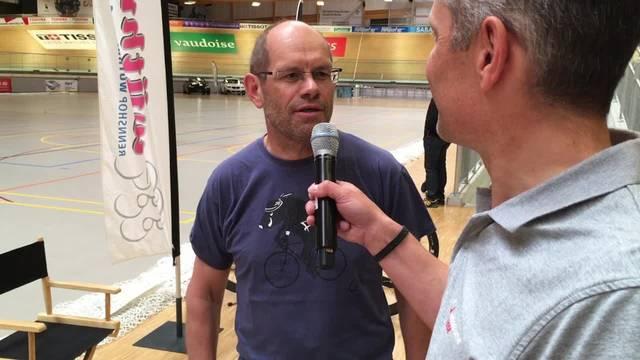 Samuel Flückiger gibt vor dem Start ein ausführliches Interview