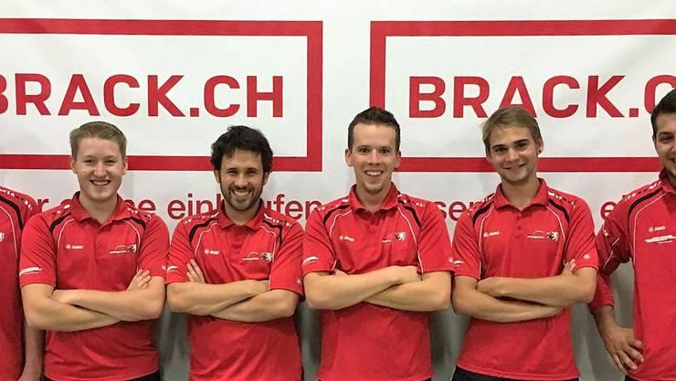 Von links: Livio Brun, Silvan Stöckli, Michael Rüttimann, Tobias Stenz, Micael Cavegn & Elias Walker