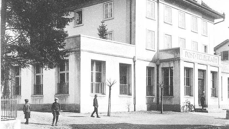 Die ehemalige Wohler Hauptpost in einer Aufnahme von 1914. Später war hier die Post 2, welche vor einem Jahr geschlossen wurde. (PTT-Archiv)