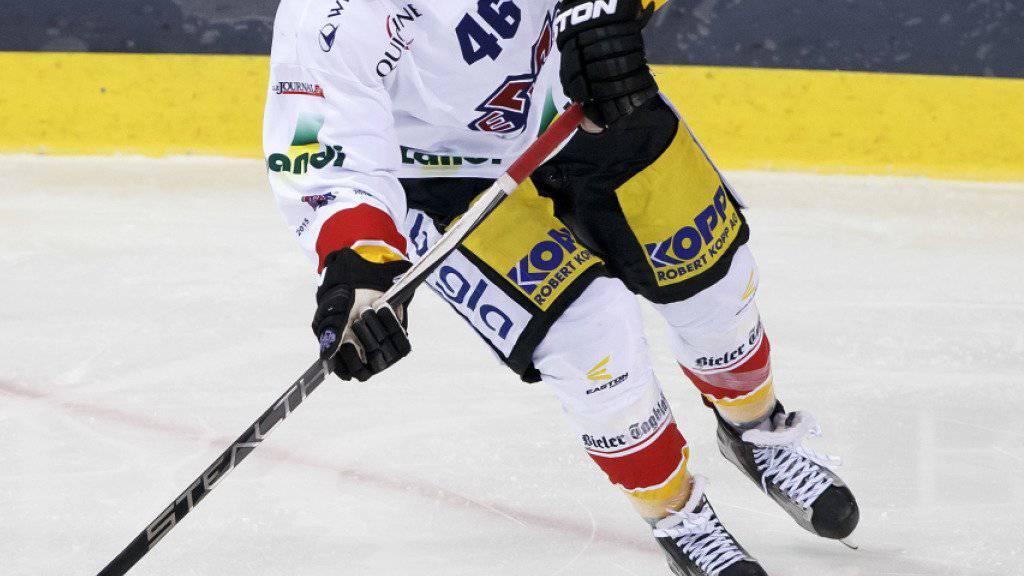 Matthias Rossi wird nach drei Saisons beim EHC Biel zum Ligakonkurrenten Fribourg-Gottéron wechseln