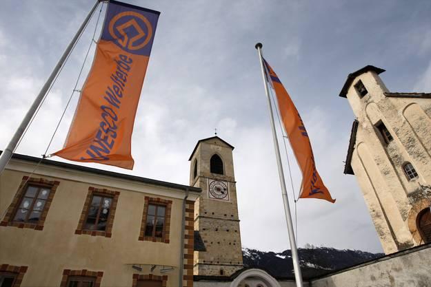 ... das Benediktinerinnen-Kloster St. Johann in Müstair (GR).