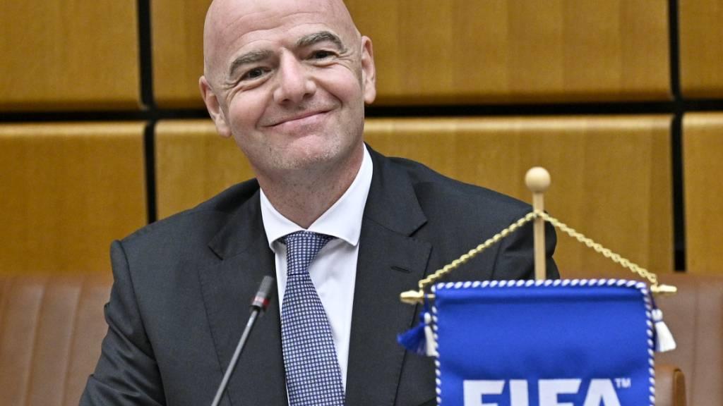 Fifa-Präsident Gianni Infantino ist mit einem Gesuch um volle Akteneinsicht beim Bundesstsrafgericht mehrheitlich abgeblitzt. (Archivbild)
