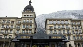 Sicht auf das Hotel Victoria Jungfrau in Interlaken (Archivbild)