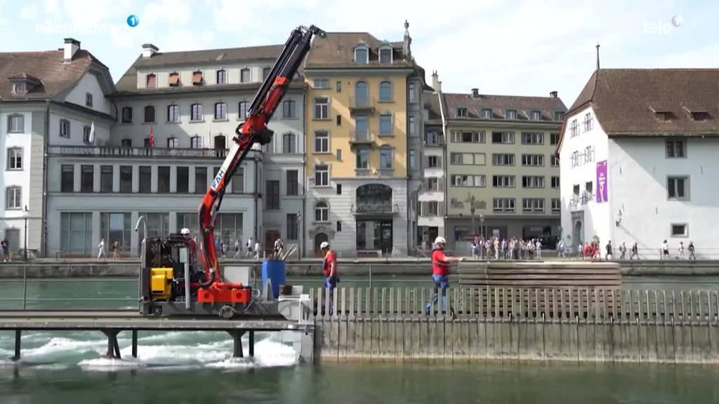Reusswehr wird nach Hochwasser wieder geschlossen