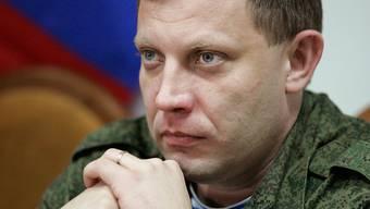 Bei einer Bombenexplosion ist der prorussische Rebellenanführer Alexander Sachartschenko getötet worden. (Archivbild)