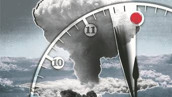 «2½ vor 12»: Die «Atomkriegsuhr» des «Bulletin of the Atomic Scientists» steht heute schon bedrohlich nah an Mitternacht.