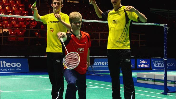Drei Freunde unter sich: Joel König, Joshua Panier und Christian Kirchmayr (von links).  Rahel Müller