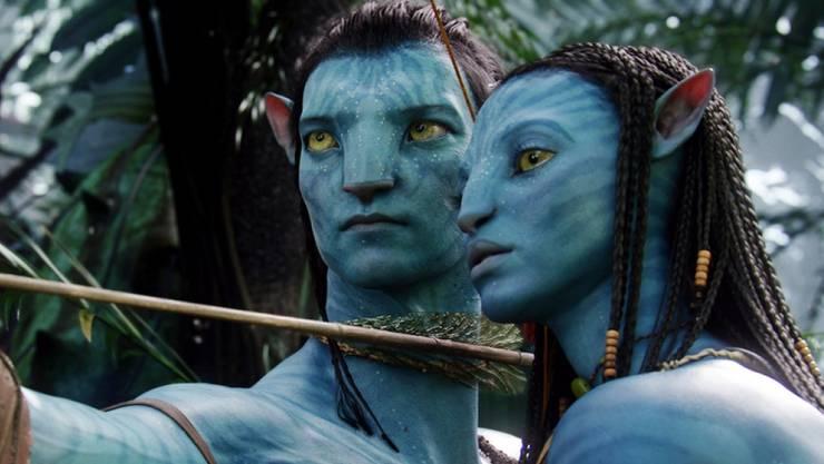 """Am Blockbuster """"Avatar"""" hat Michael Aerni mitgearbeitet. Im Bild: Die """"Avatar""""-Protagonisten Neytiri (Zoe Saldana, rechts) und Jake (Sam Worthington). (Pressebild)"""