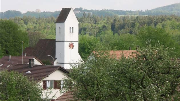 Blick auf die Kirche von Auenstein