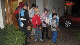 Die Silvesterglöggler begrüssen in Seengen das neue Jahr mit ihren Kuhglocken. ZVG
