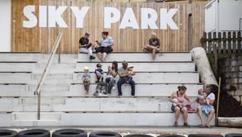 Medienkonferenz mit Führung durch den Park vor der Neueröffnung des Siky Park in Crémines