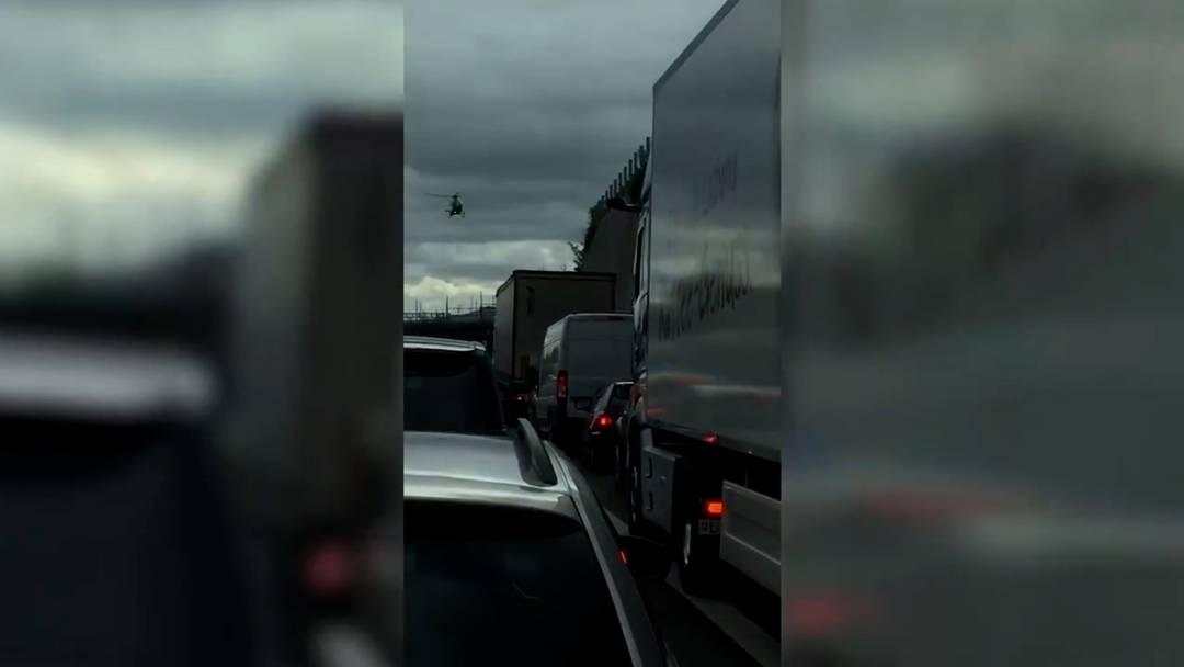 Unfall auf der A1 zwischen Wettingen und Dietikon verursachte lange Staus