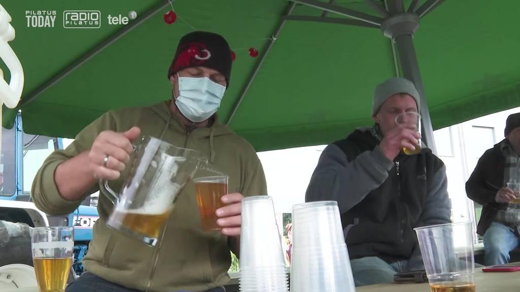 Willisauer Bar verschenkt 300 Liter «Huusbier»
