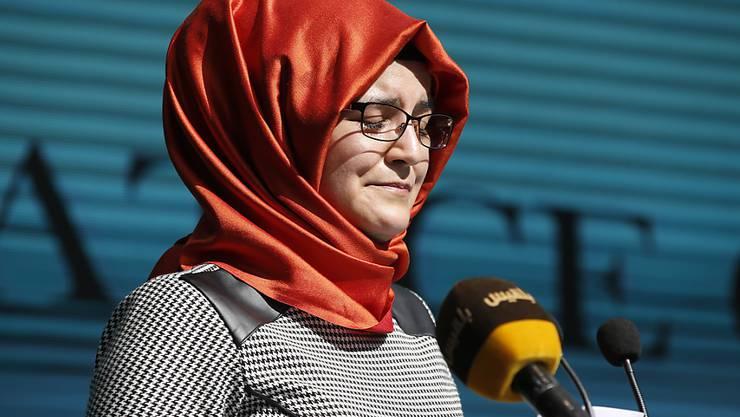 """""""Die Reaktion Trumps hat mir das Herz gebrochen"""": Hatice Cengiz, Verlobte des ermordeten saudischen Regimekritikers und Journalisten Jamal Khashoggi. (Archivbild)"""