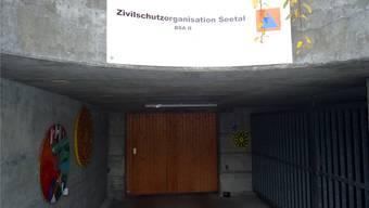 Der Zugang zur Zivilschutzanlage Hubpünt in Seengen, wo Asylbewerber einquartiert werden sollen.
