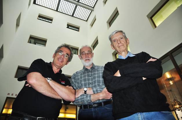 Rolf Hunziker, Frits van Dorp und Wolfgang Haschka vom Camera Club Brown Boveri haben die Badener Foto-Rallye organisiert