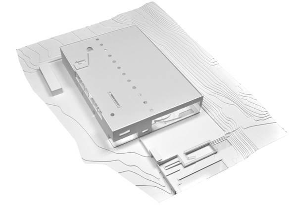 Modell des neuen Gelterkinder Hallenbads