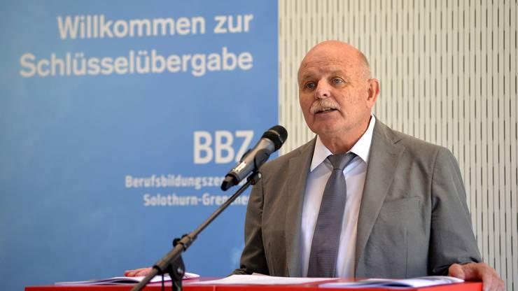 2016 hielt der Kantonsbaumeister eine Ansprache bei der Schlüsselübergabe im fertiggebauten BBZ in der Vorstadt.