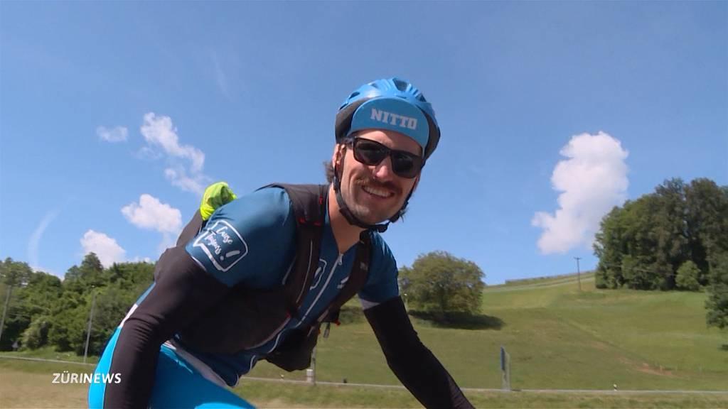 Lausanner absolviert 26 Langstrecken-Triathlons für die Krebshilfe