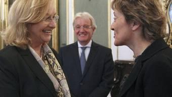 Bundesrätin Widmer-Schlumpf und die österreichische Finanzministerin Maria Fekter