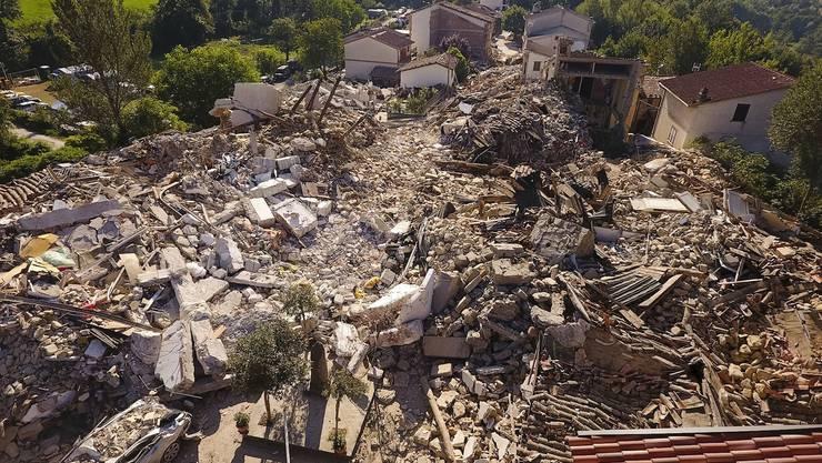 Hier sieht man das Ausmass der Erdbeben-Katastrophe.