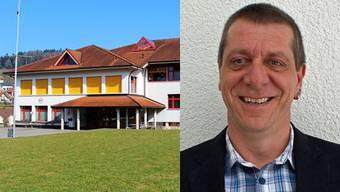 Der Jugendraum befindet sich im Untergeschoss des Schulhauses in Schmiedrued, daneben Bernhard Imboden, Präsident der Jugendkommission Rued